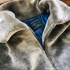 NEW urban outfitters teddy zip up jacket